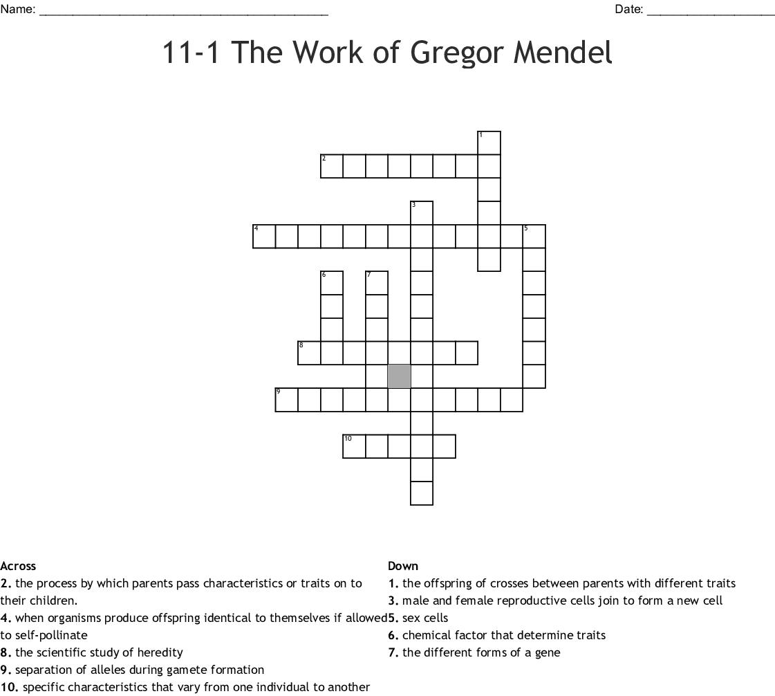 31 Biology 111 The Work Of Gregor Mendel Worksheet Answers ...