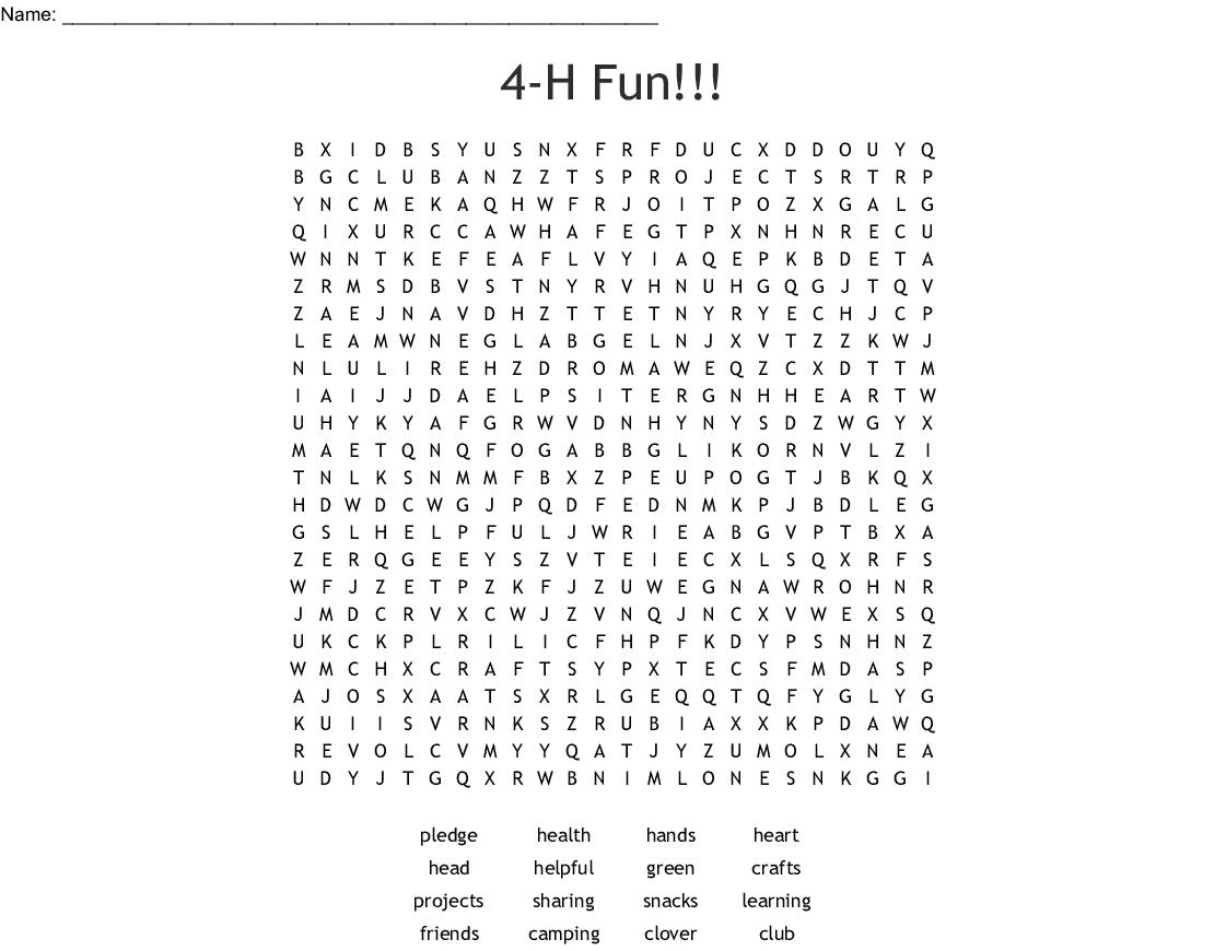 picture regarding 4-h Pledge Printable named 4-H Term Glimpse - WordMint