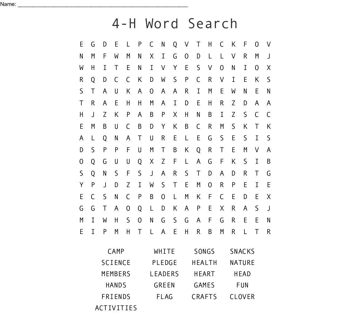 graphic regarding 4-h Pledge Printable called 4-H Term Look - WordMint