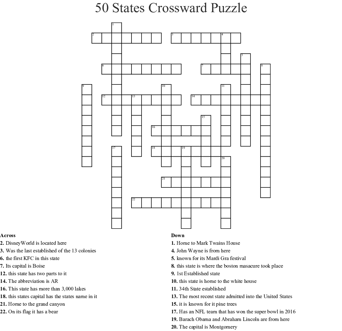 All 50 States Capitals Word Search Puzzle Answers ...