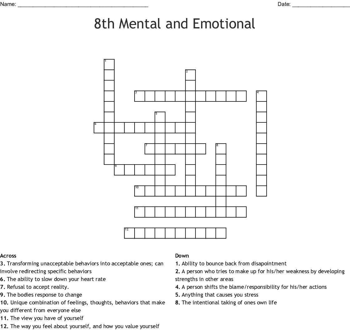 Defense Mechanisms Crossword Wordmint