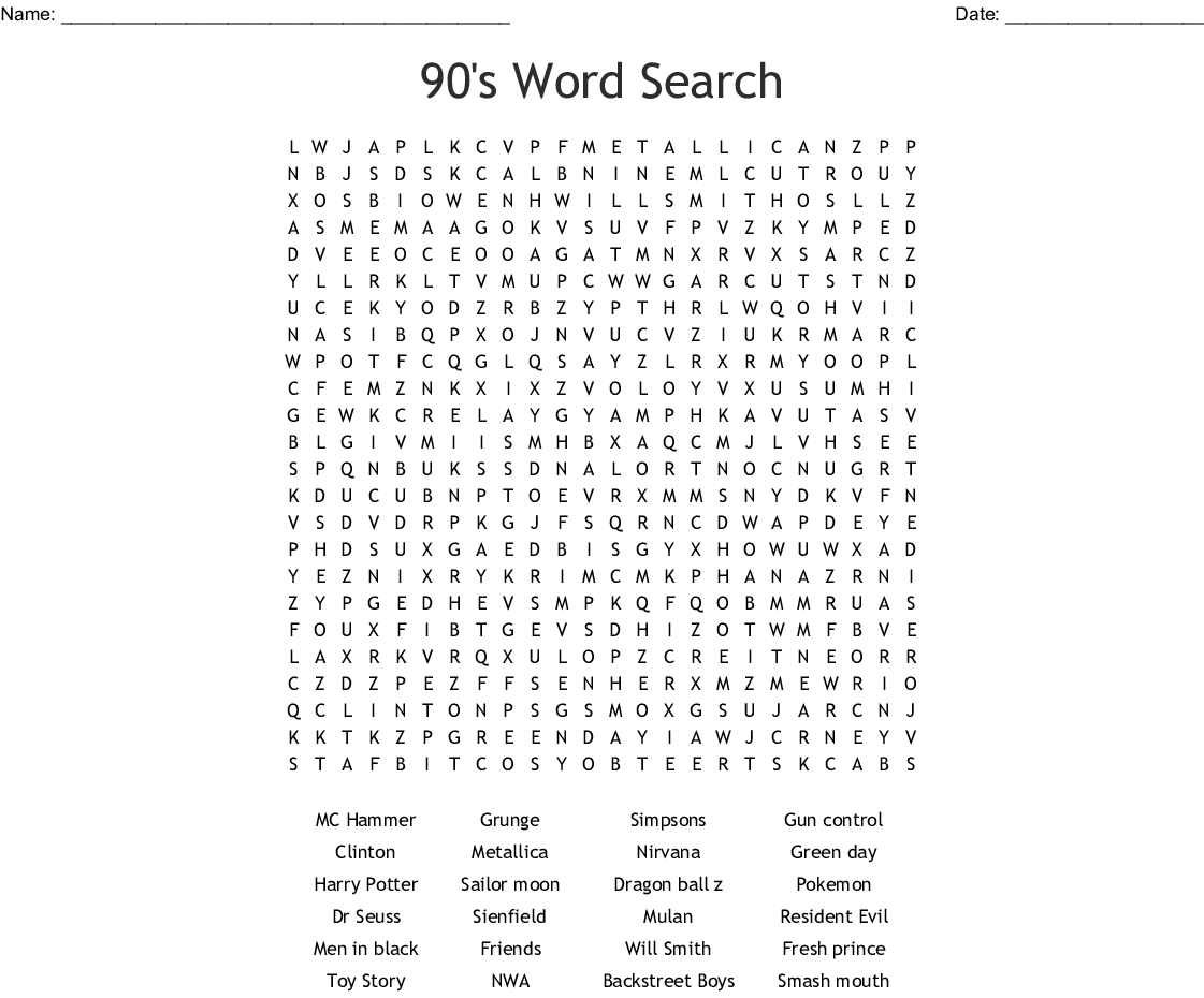 photo regarding Dr Seuss Word Search Printable identify 90s Phrase Glimpse - WordMint