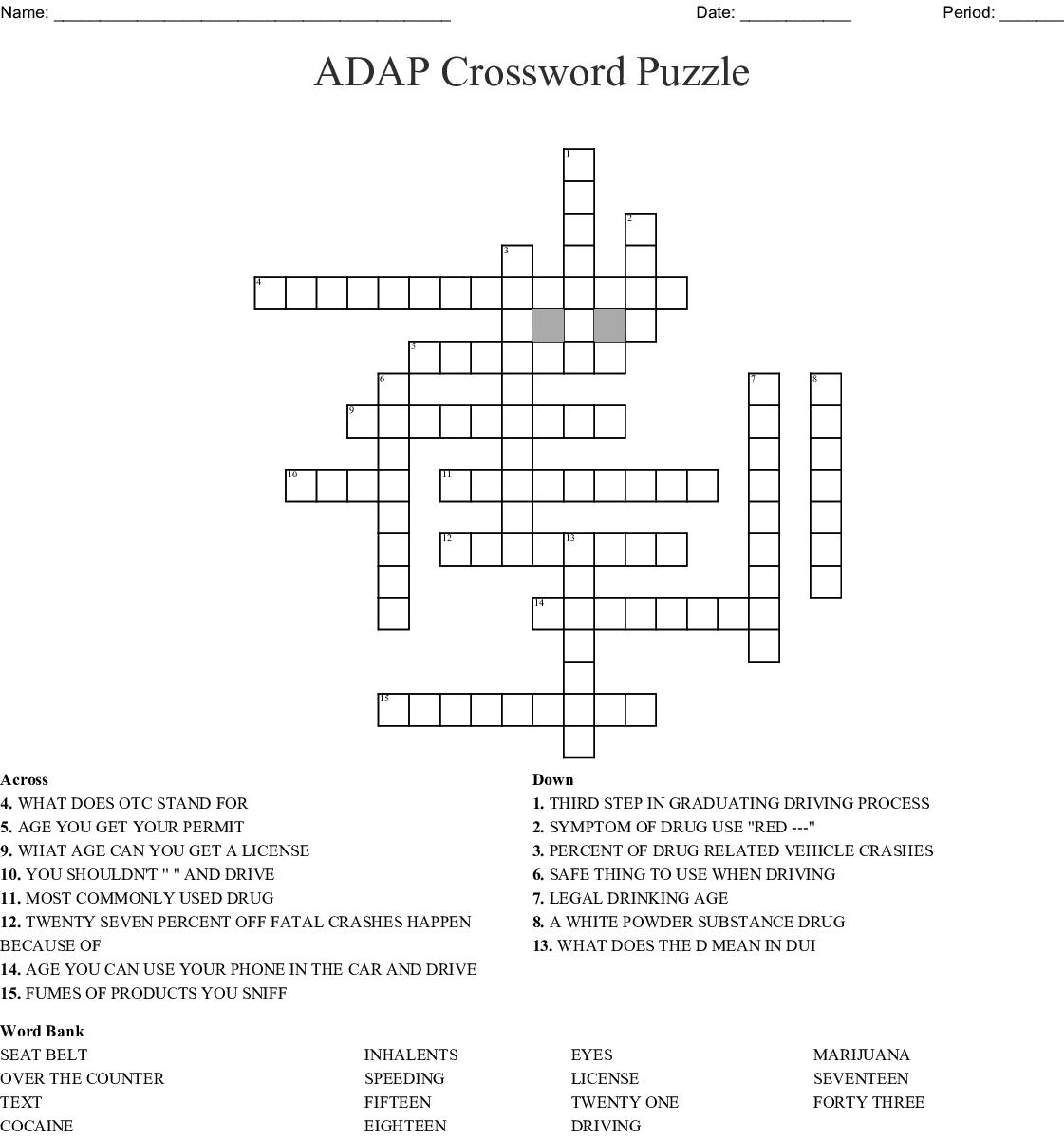 Adap Crossword Wordmint