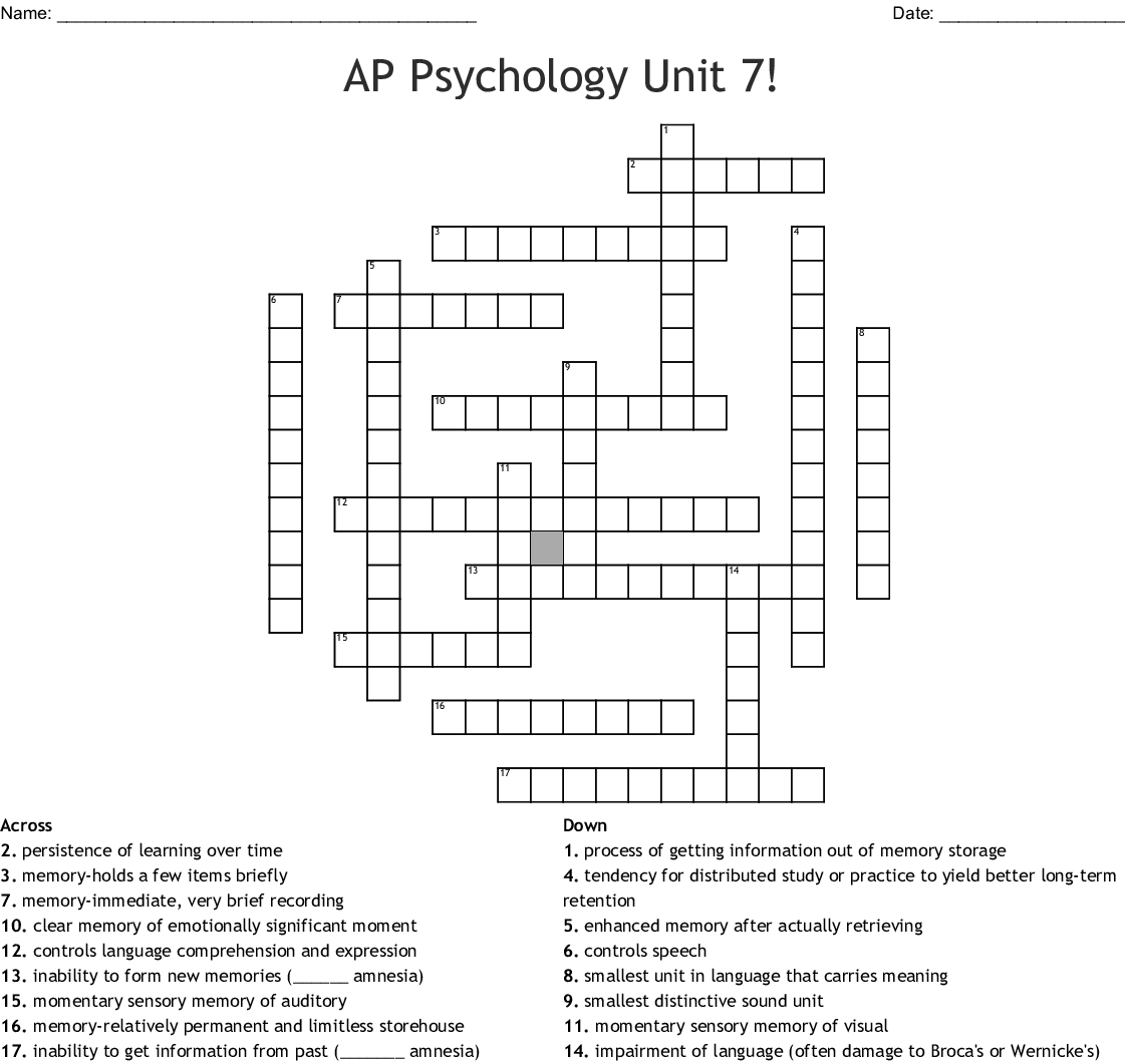 Cognition Crossword Wordmint