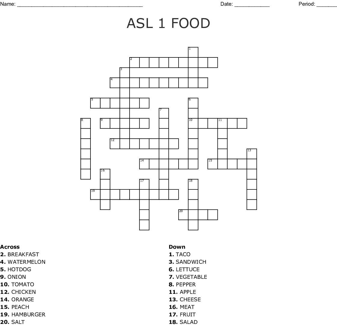 Food and Drinks Bingo Card - WordMint