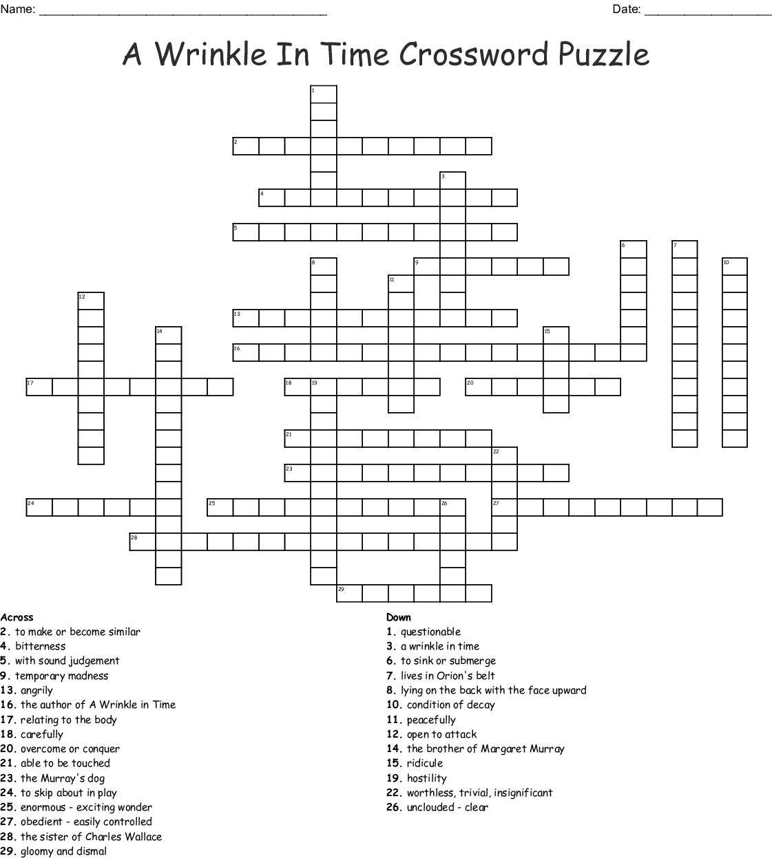 Vocabulary Week 3 Crossword Wordmint