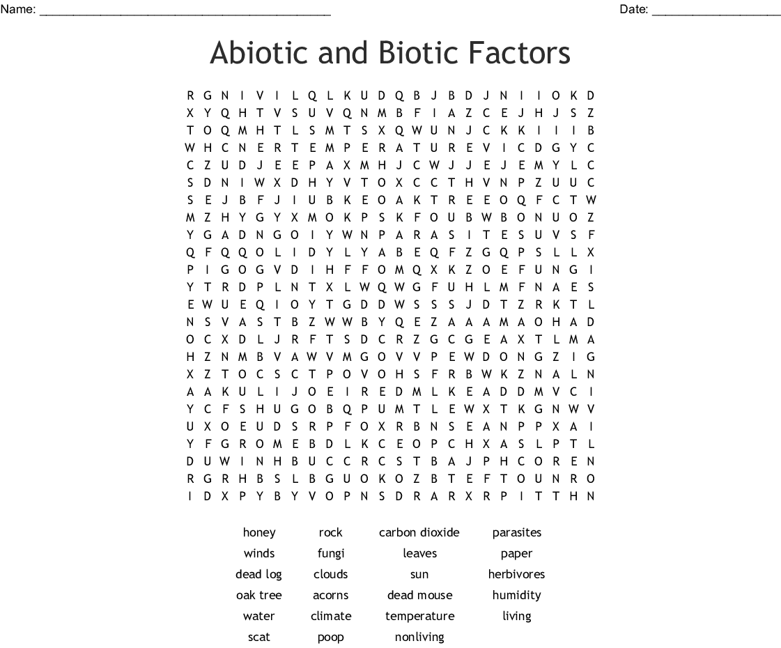 Solved  Ecology Review Worksheet Main Idea  An Ecosystem I in addition Abiotic And Biotic Factors Worksheet   Meningrey besides ecology biotic and abiotic factors worksheet   Google Search moreover Abiotic and Biotic Factors Word Search   WordMint further  in addition biotic and abiotic factors worksheet – Google Search   14th grade together with Biotic And Abiotic Factors Worksheet The best worksheets image further  furthermore Strategies for Teaching 8th Graders about  peion in an besides Worksheet 1  Abiotic versus Biotic factors in addition is hair biotic or abiotic   Amathair co as well biotic and abiotic venn diagram   Maco palmex co further Biotic and Abiotic Factors in Ecosystems by Marie Myers   TpT furthermore Abiotic Vs Biotic Factors Worksheet  biotic vs abiotic lessons tes likewise Abiotic Vs Biotic Factors Venn Diagram Answers New Biotic and as well . on biotic and abiotic factors worksheet
