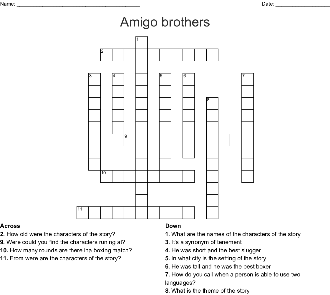 Bernardos Girlfriend In West Side Story Crossword - Story ...
