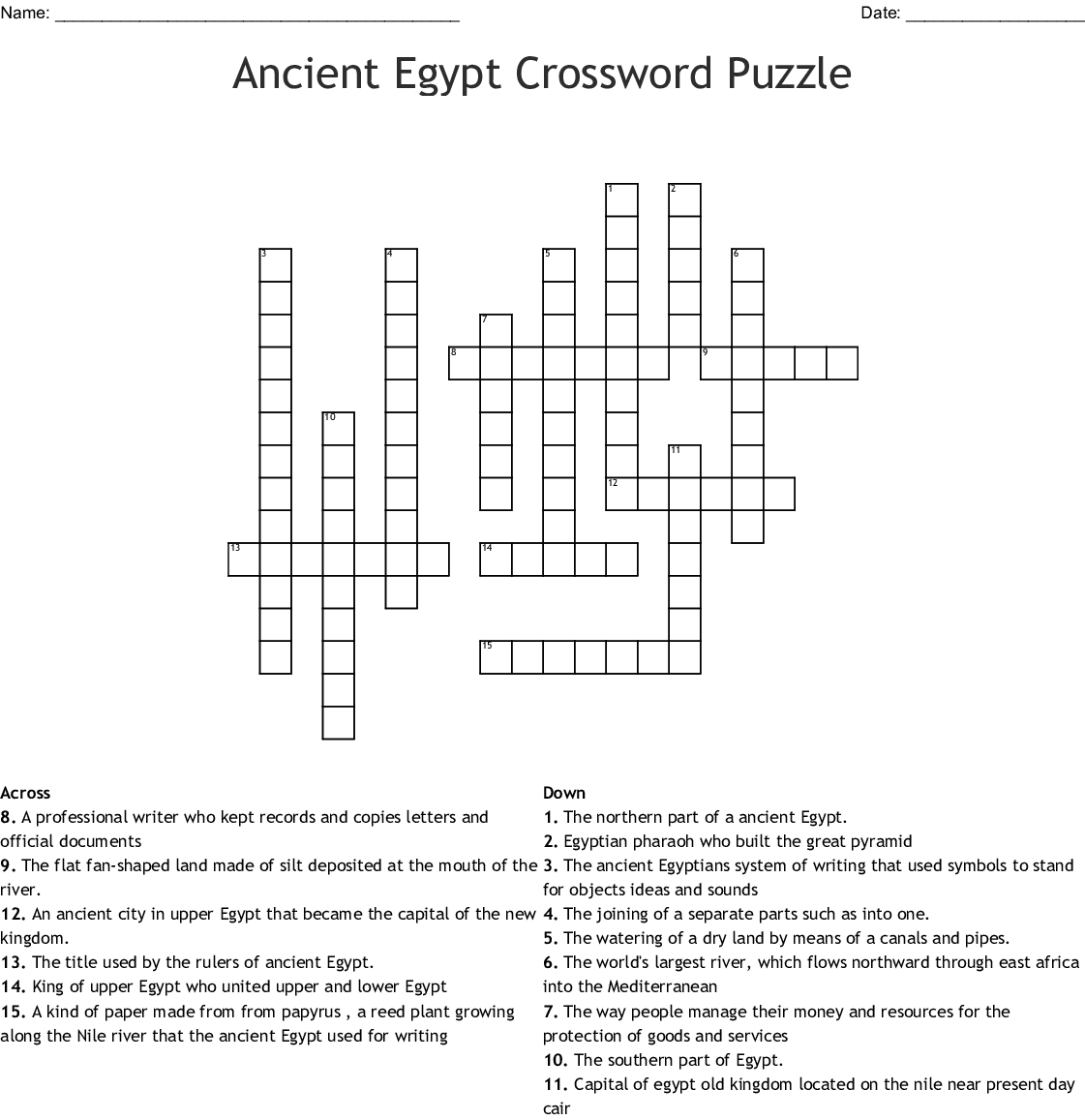 ancient egypt word search - WordMint