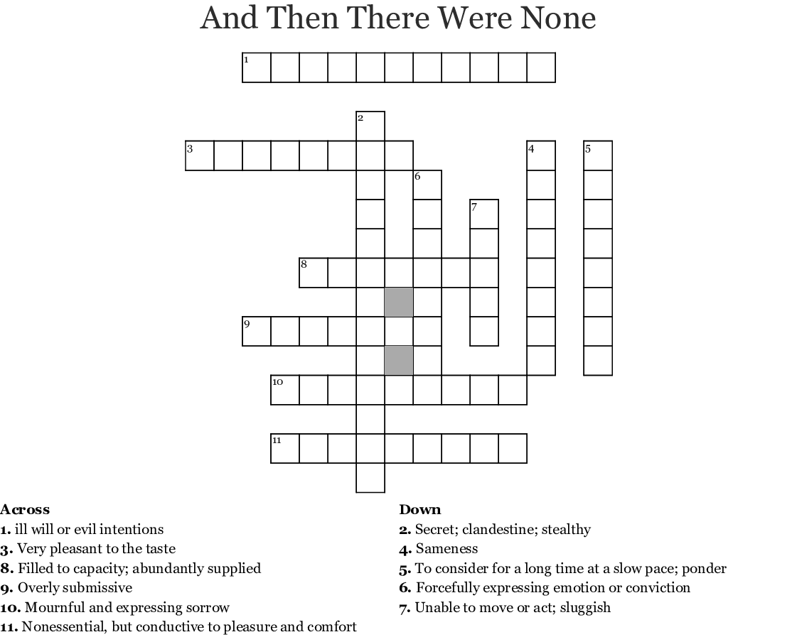 Brave New World Vocabulary Ch  1-6 Crossword - WordMint