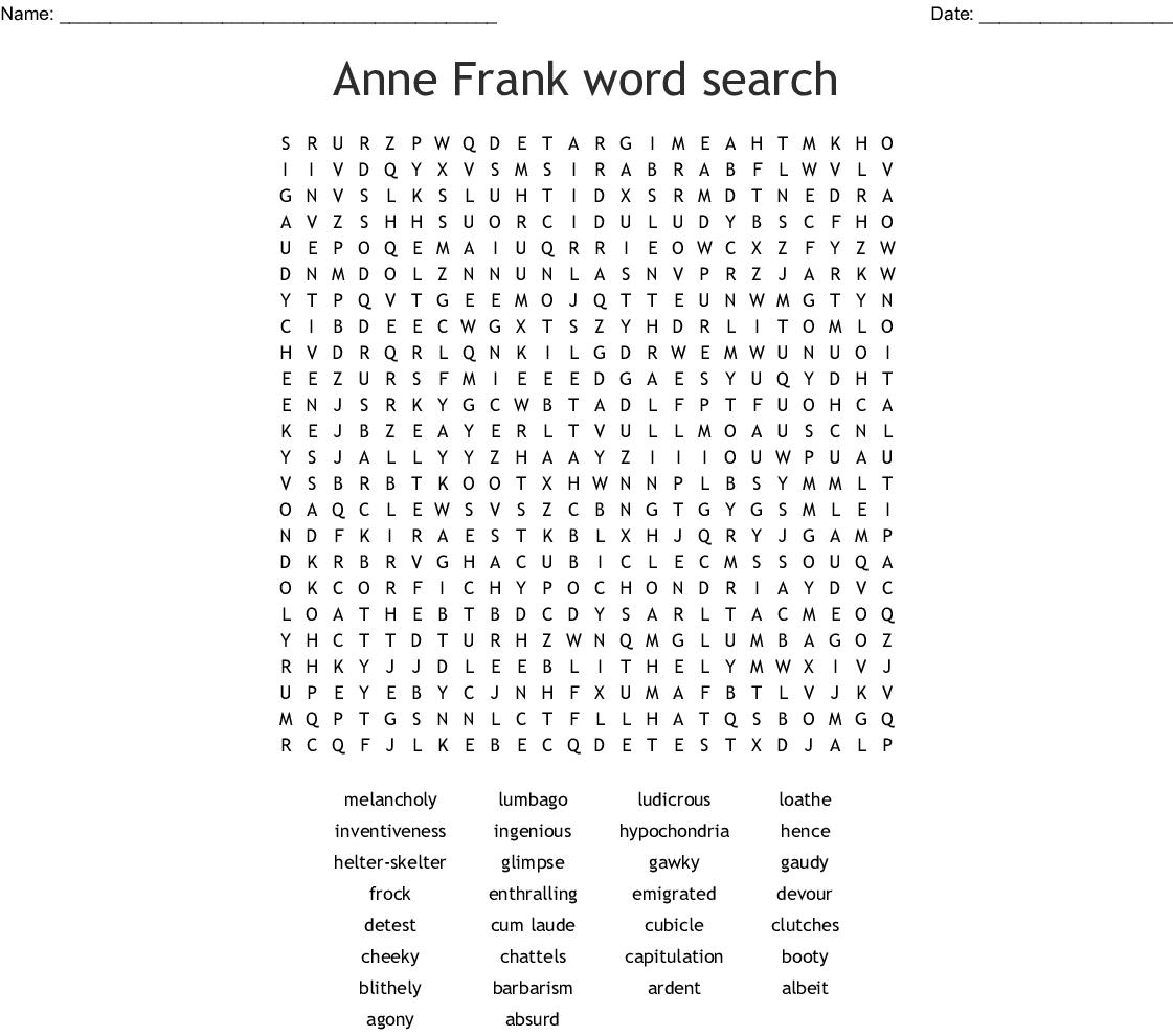 Matilda Word Search - WordMint