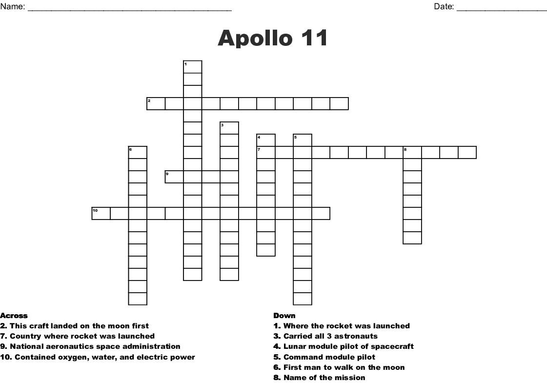 title of us lunar spacecraft crossword - photo #5