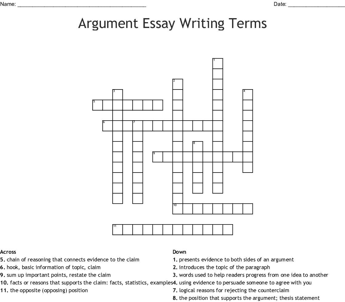 Dissertation paper crossword
