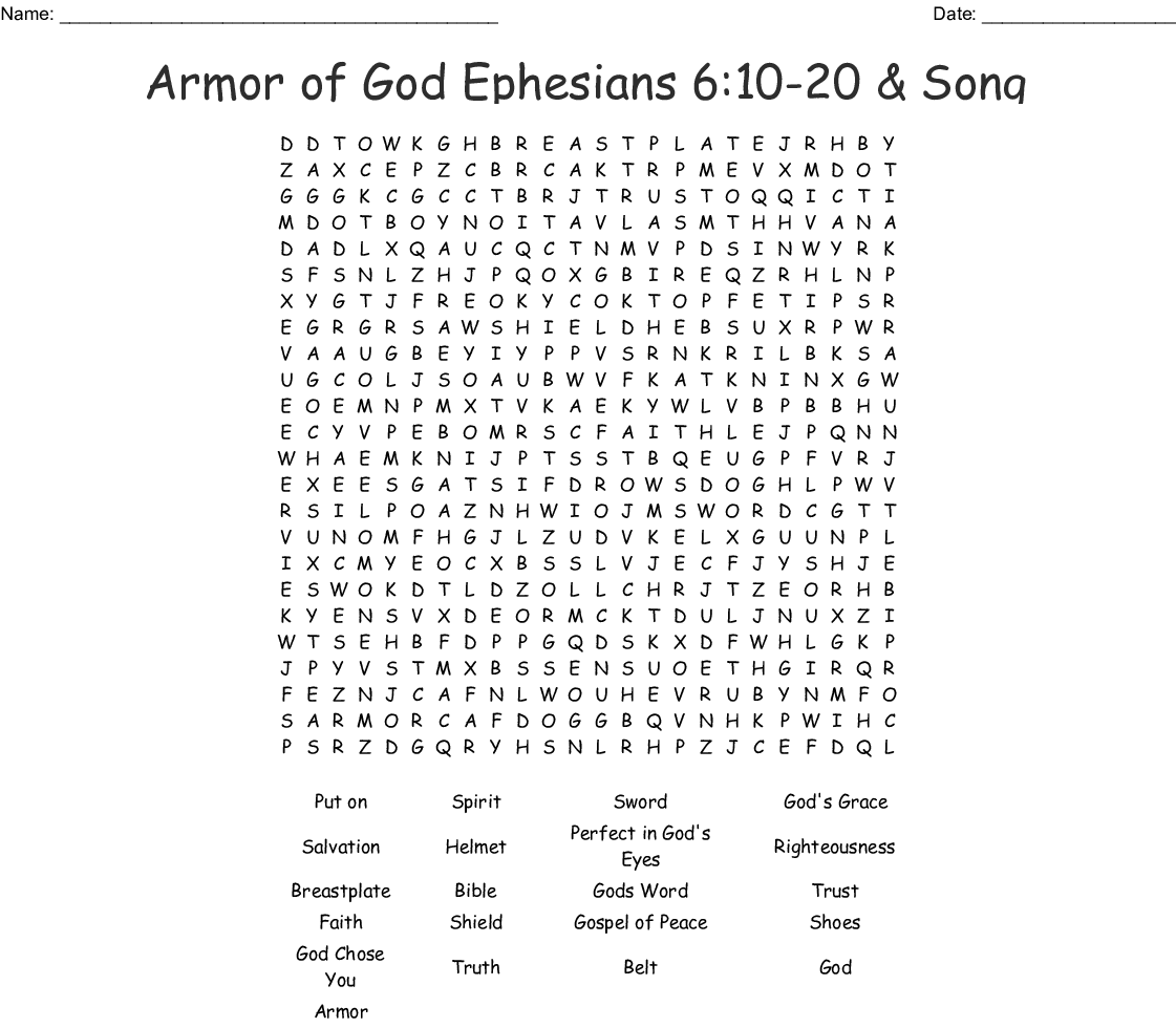 Armor Of God Crossword