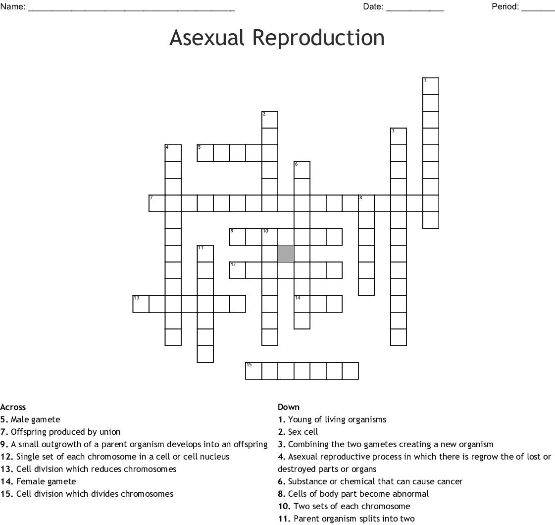 Asexual Reproduction Crossword - WordMint