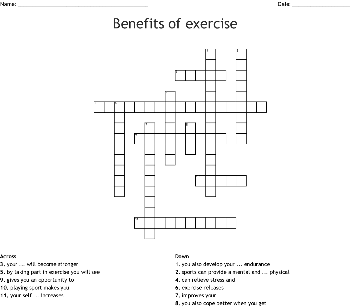 Stress Relief Crossword Wordmint