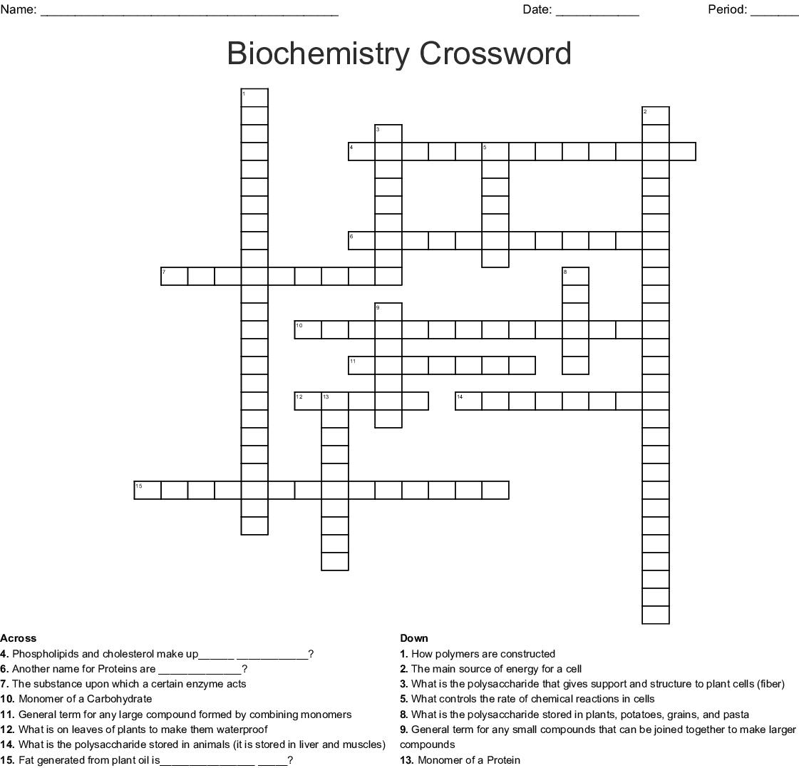 Biochemistry Crossword - WordMint