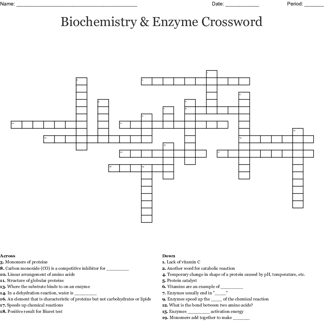 Chemical Equilibrium and Chemical Kinetics Crossword ...
