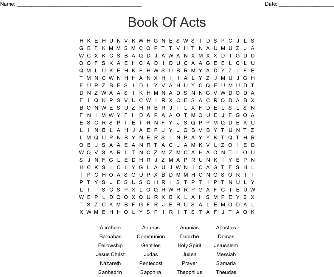 PAUL AND BARNABAS Word Search - WordMint