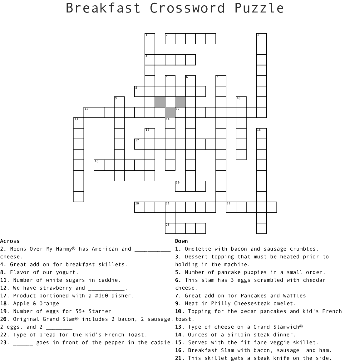 picture about Boston Globe Crossword Printable referred to as 6 For Supper Crossword