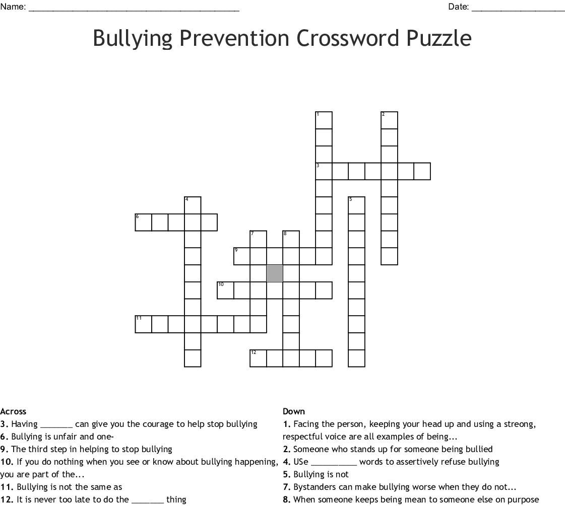 Sexual Harassment Crossword Wordmint