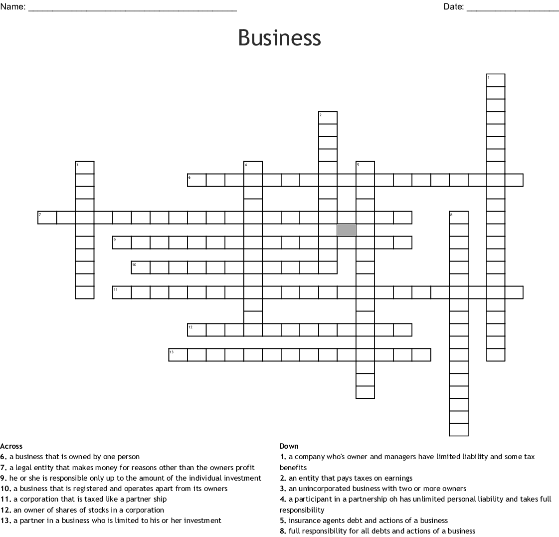 S Corporation Word Search Wordmint
