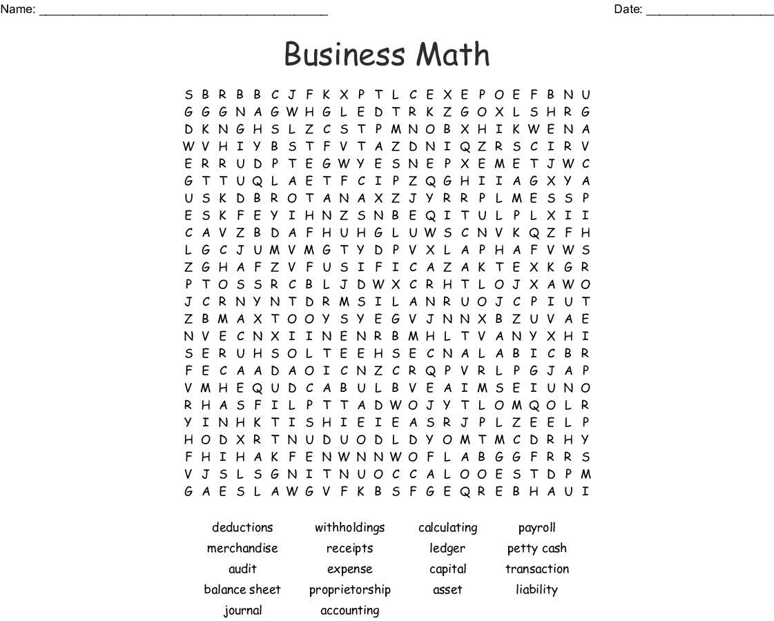accounting terms word search wordmint. Black Bedroom Furniture Sets. Home Design Ideas