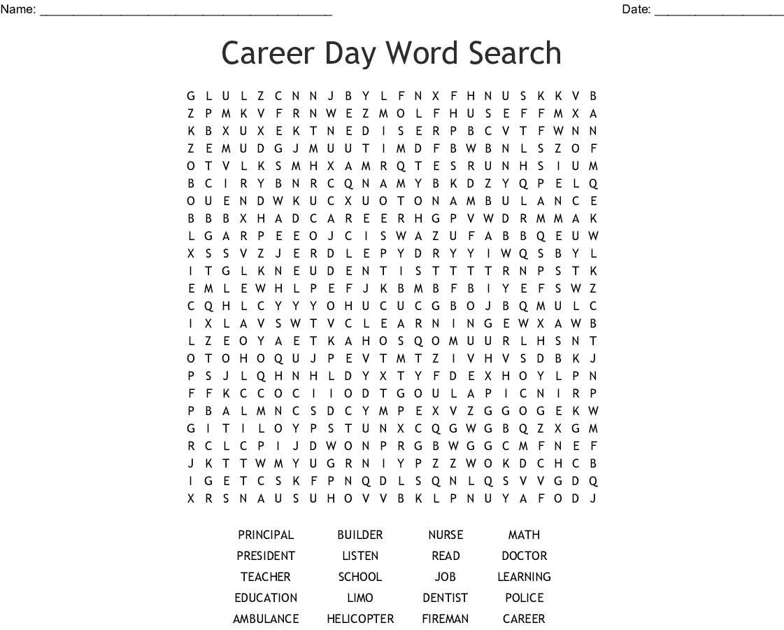 Jobs & Careers Word Search - WordMint