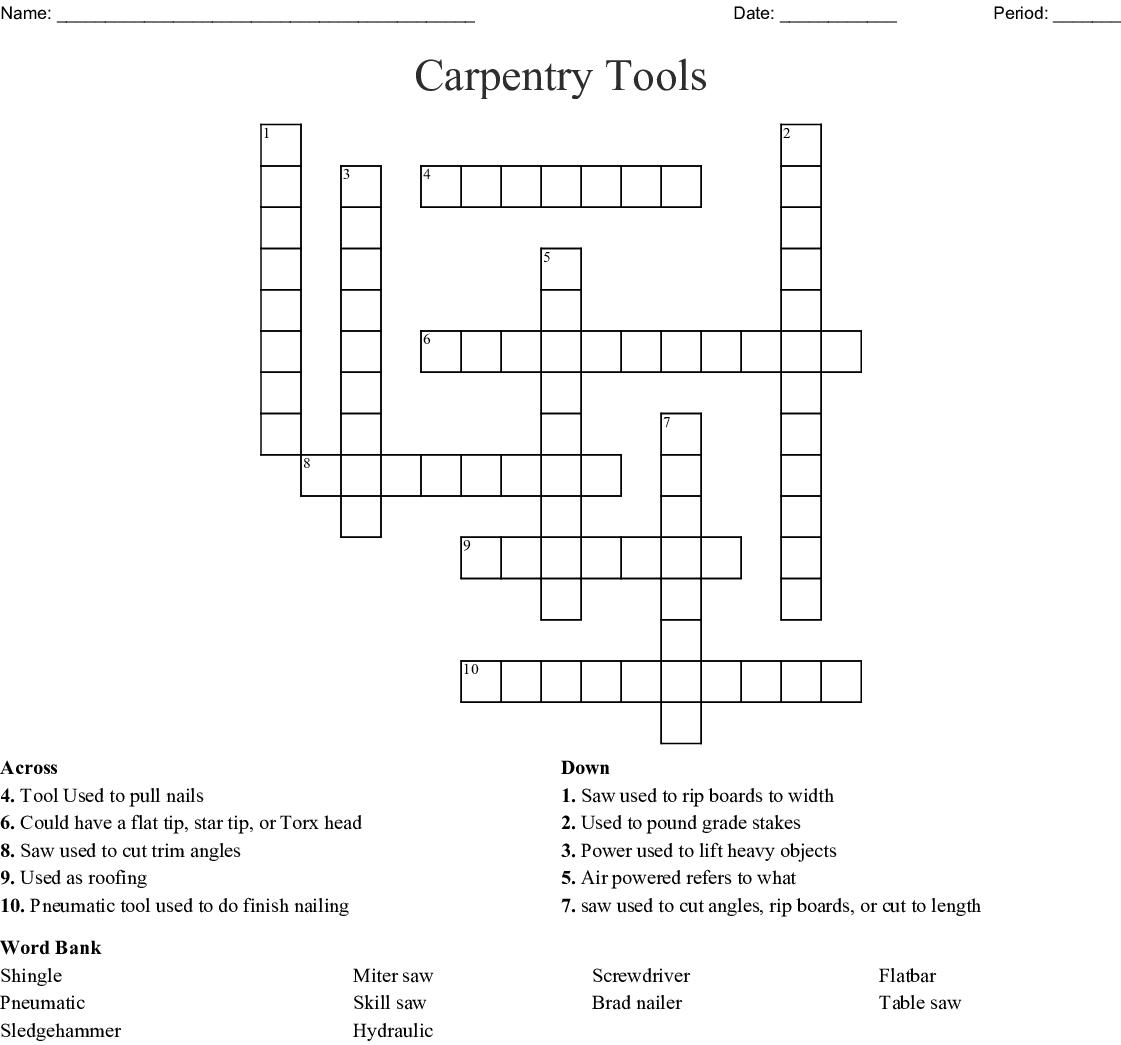 Carpenters Tool Crossword Clue Collections Photos Carpenter