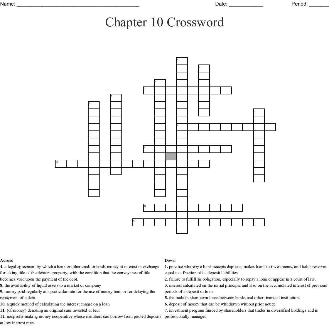 Sources Of Finance Crossword - WordMint