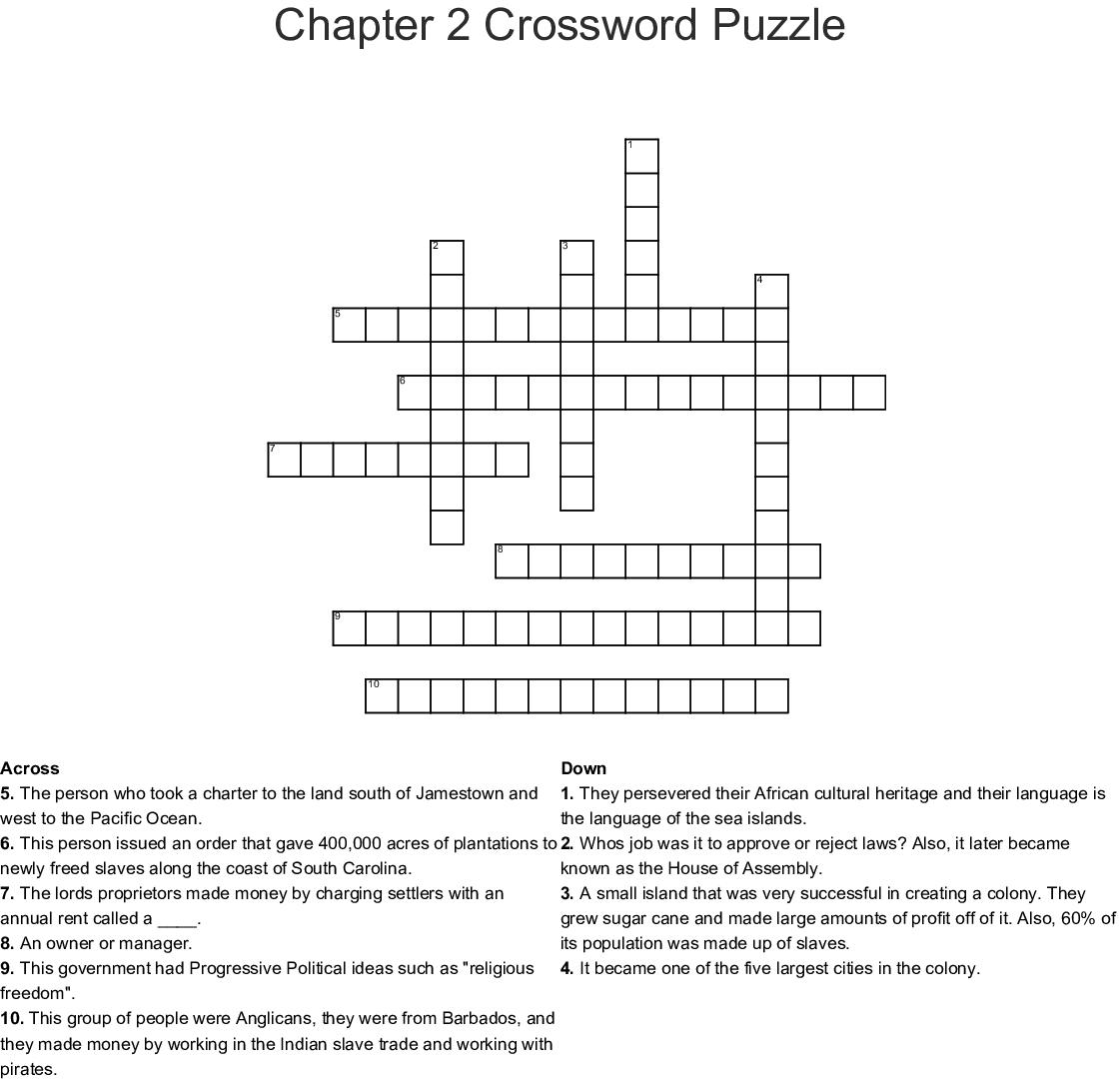 Chapter 2 Crossword Puzzle - WordMint