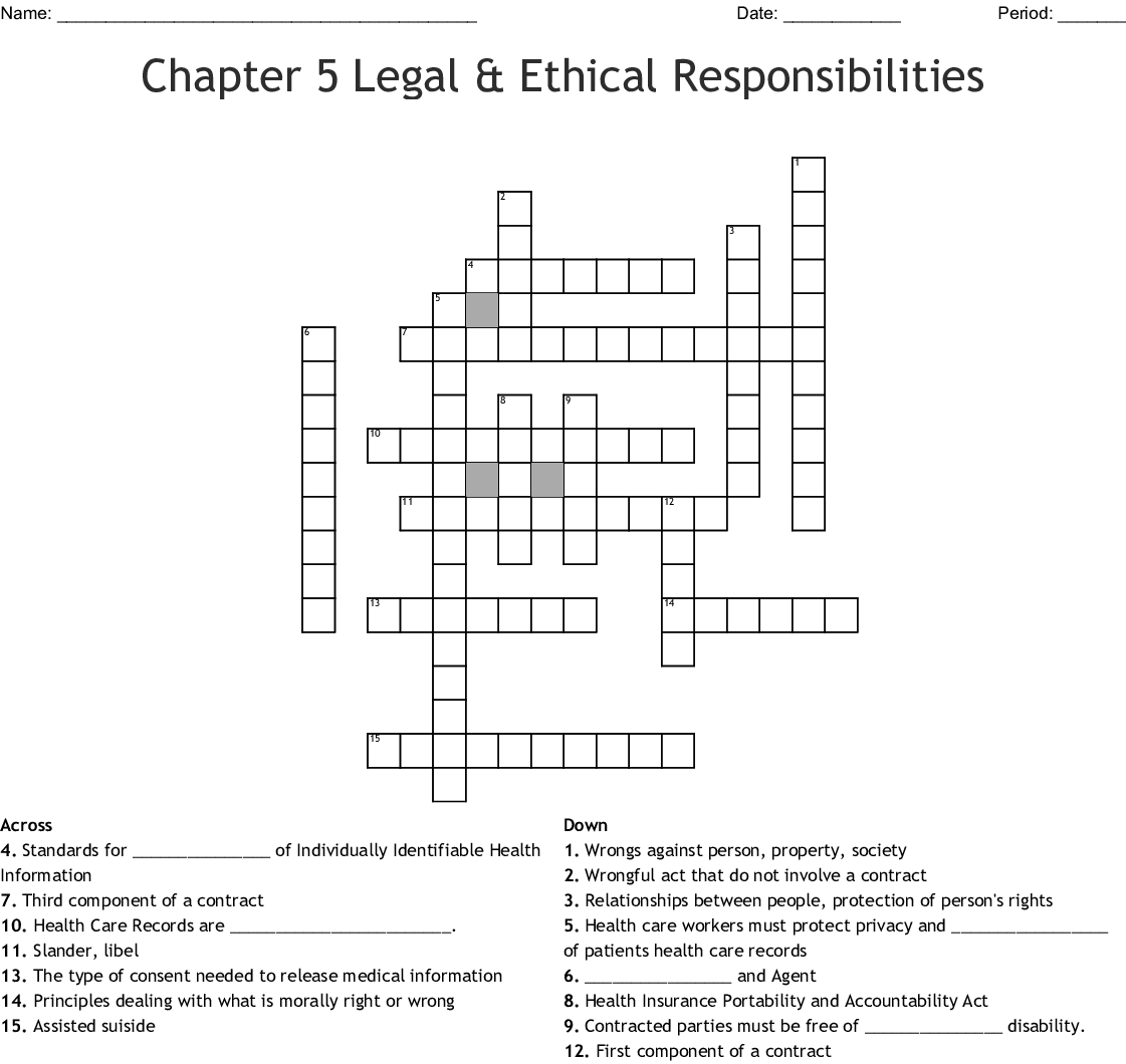 Hipaa Compliance Training Crossword Wordmint