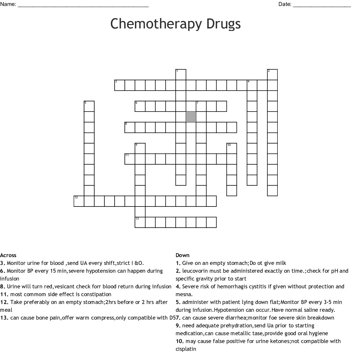 Immunity Crossword Puzzles Crossword Labs