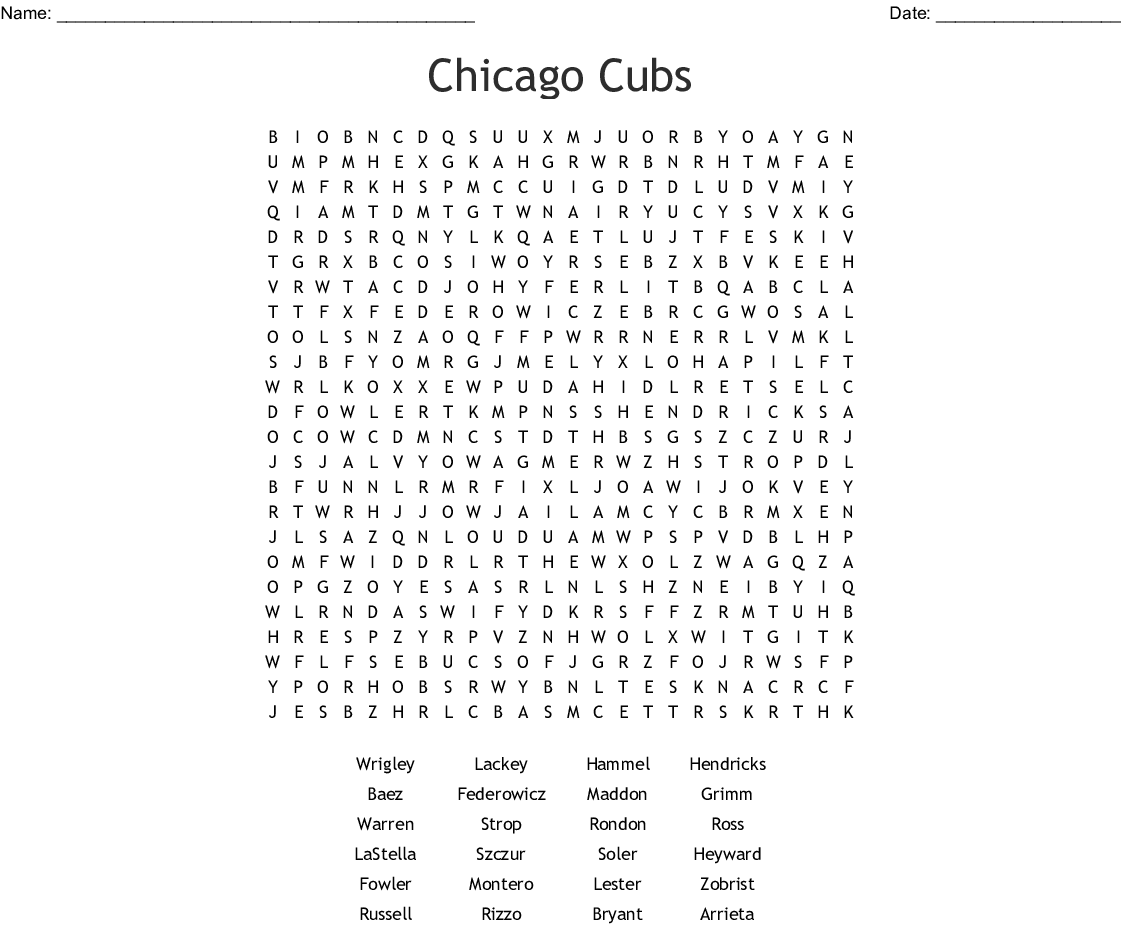 image relating to Printable Cubs W Flag named Chicago Cubs Phrase Look - WordMint