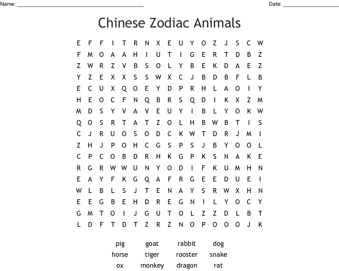 Chinese New Year Word Search Wordmint