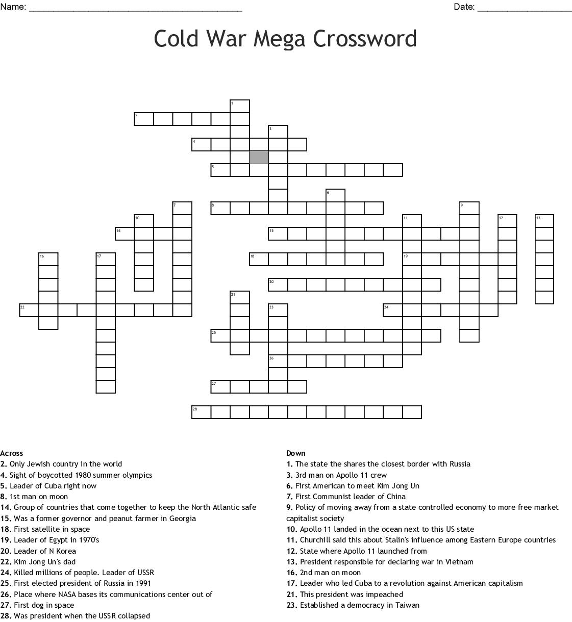 Apollo 11 Crossword Wordmint