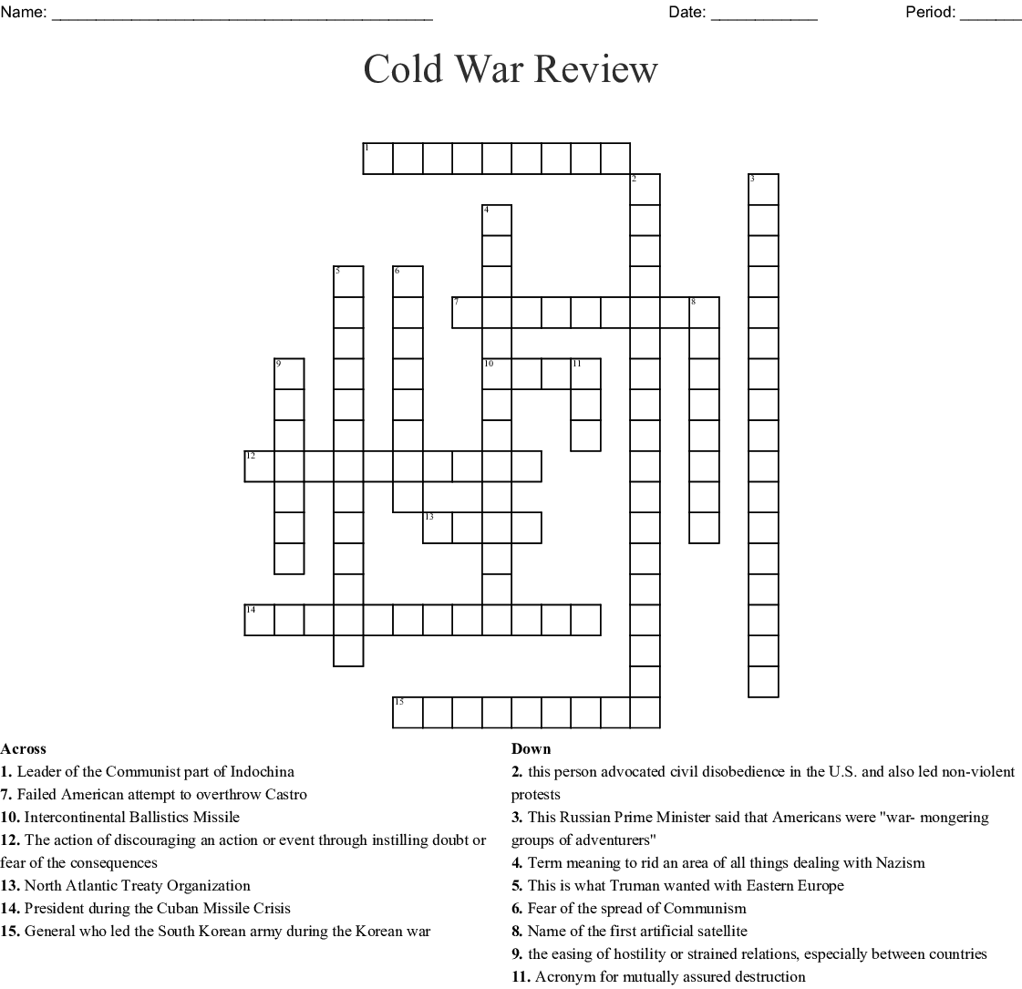 The Cold War Word Search Wordmint