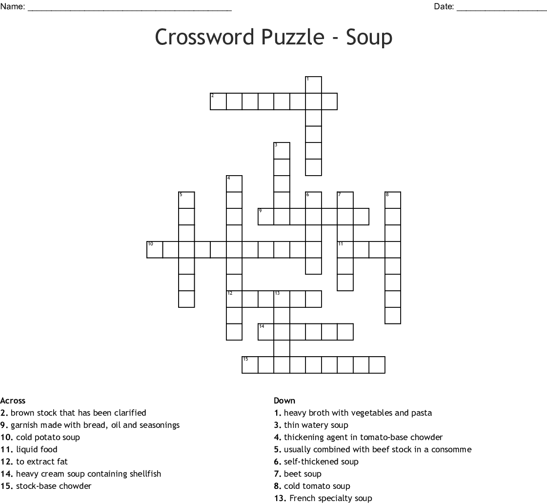 Soups Around The World Crossword Wordmint