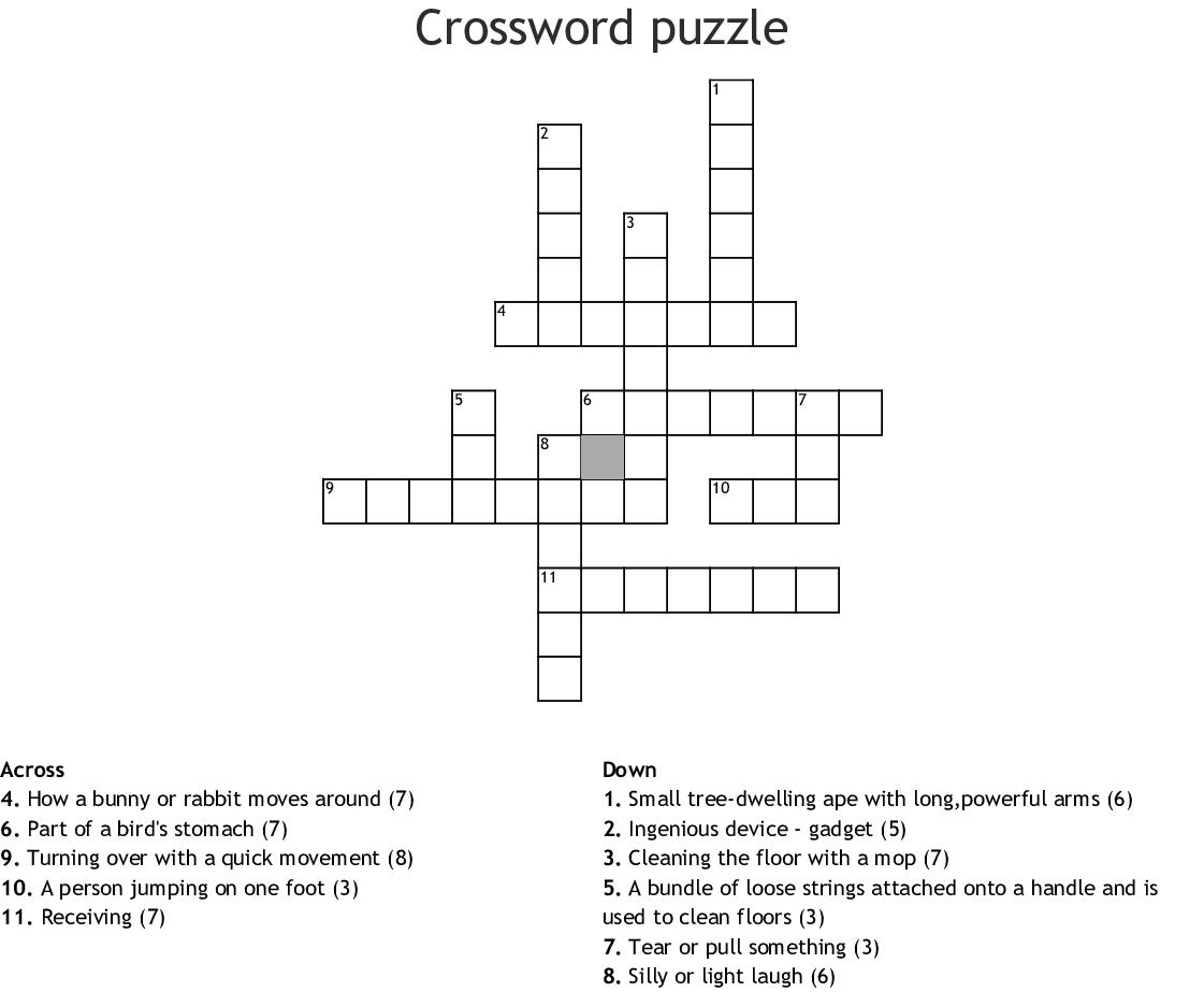 Crossword Puzzle Wordmint