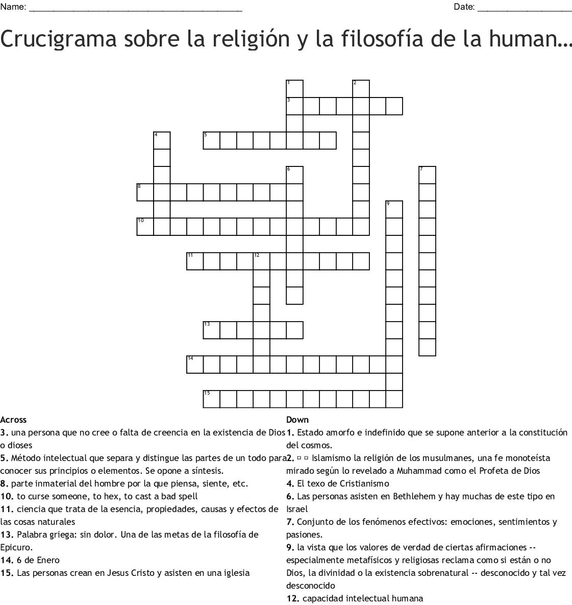 Ropa Crossword De Crossword De Wordmint Crucigrama Ropa Wordmint Crucigrama TlFK1Jc