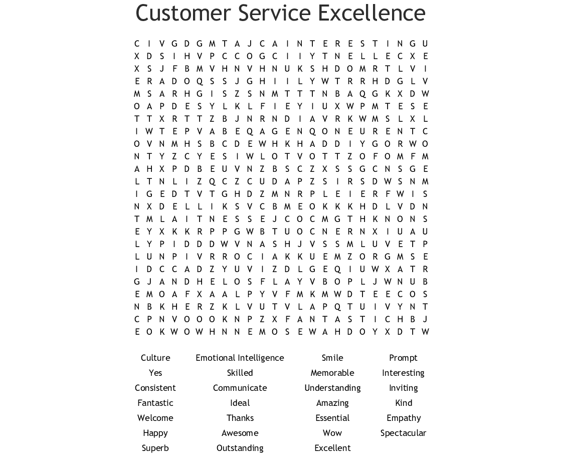 Customer Service Appreciation Week Puzzle |Customer Appreciation Puzzles