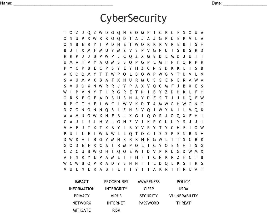 OPSEC Word Search - WordMint