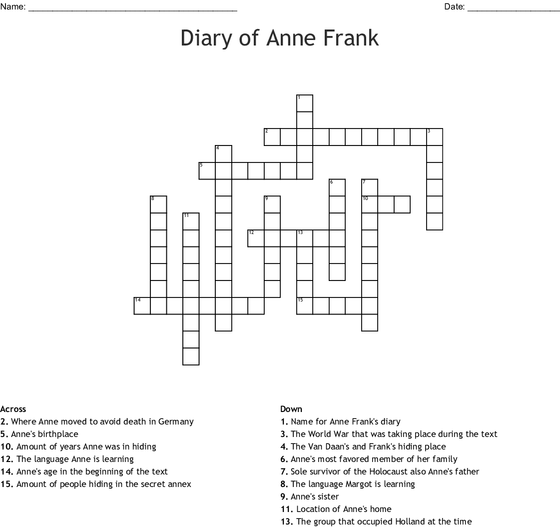 Who Is Anne Frank Commonlit Answer Key + My PDF Collection ...
