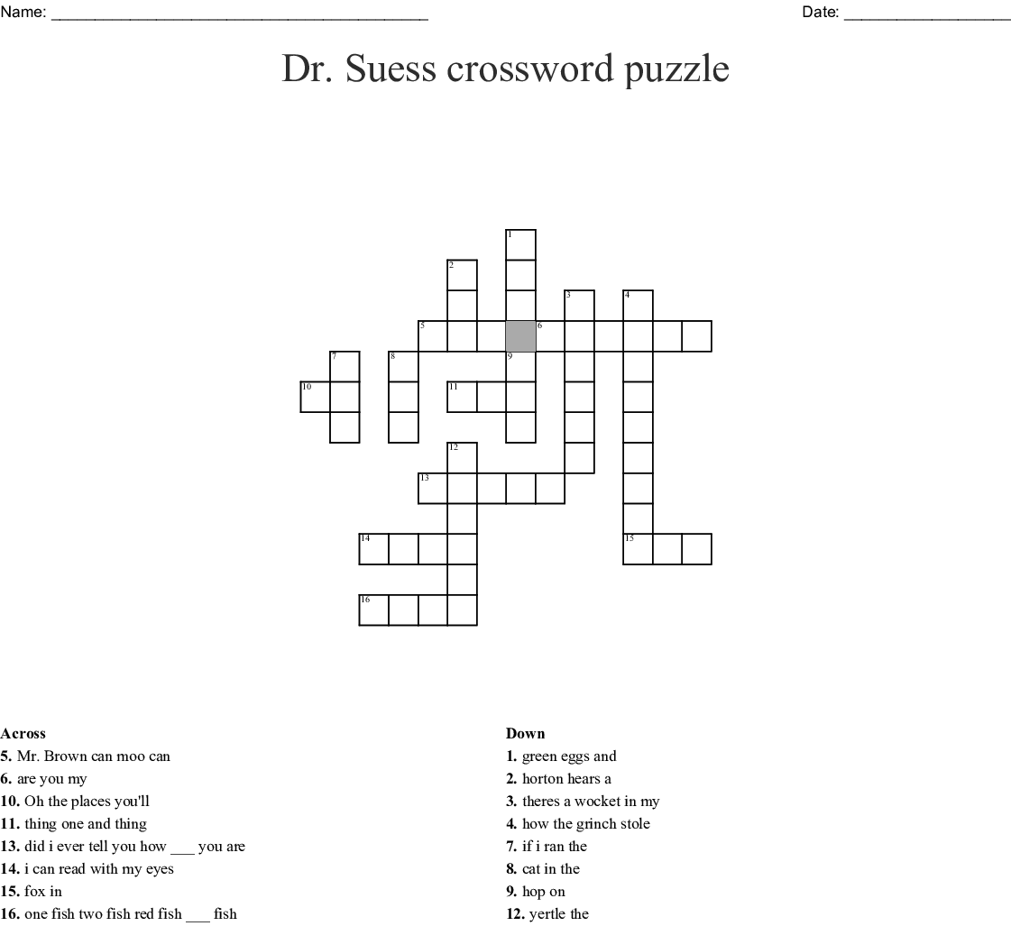 Dr  Theodore Seuss Geisel Word Search - WordMint