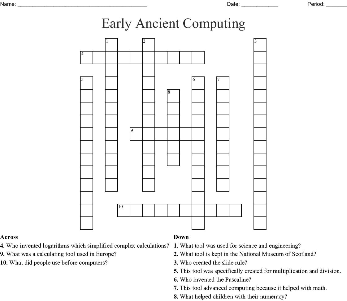 early ancient computing crossword wordmint