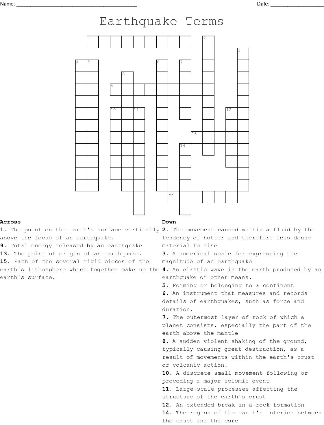 Hatchet Chapter 1 4 Crossword Wordmint