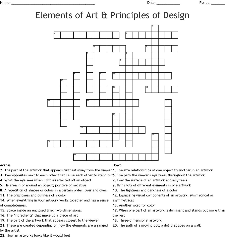 Elements Of Art Principles Of Design Crossword Wordmint,Living Room Simple False Ceiling Design For Hall