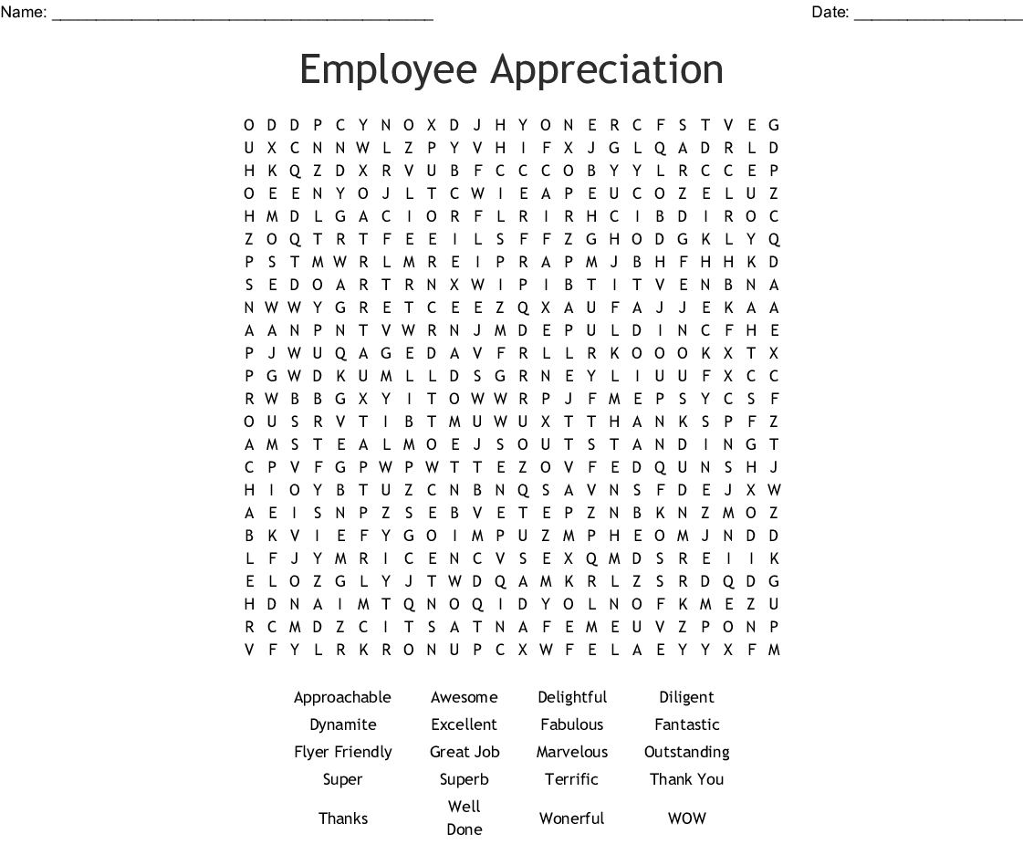word of appreciation for employee