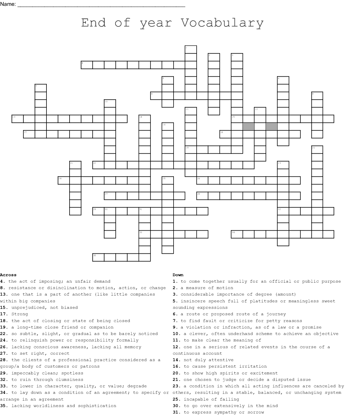 give permission crossword
