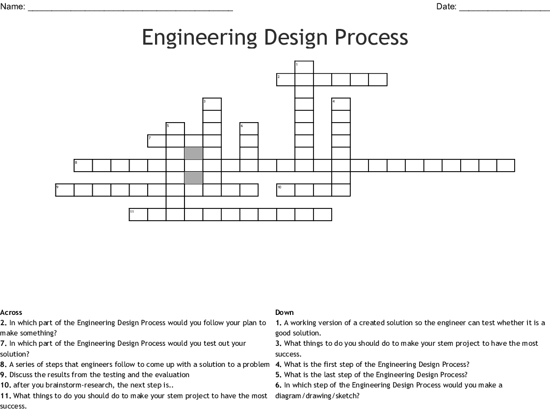 Engineering Design Process Word Search Wordmint